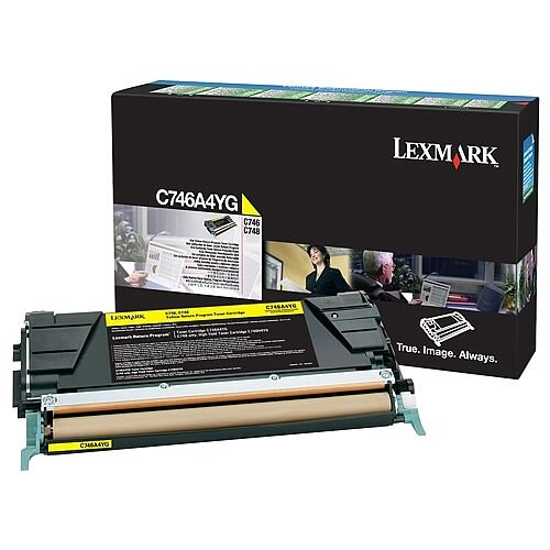 Lexmark C746A1YG Yellow Return Programme Toner Cartridge