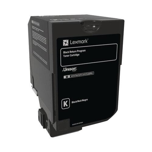 Lexmark CS720 CS725 CX725 Black Return Programme Toner Cartridge 74C20K0