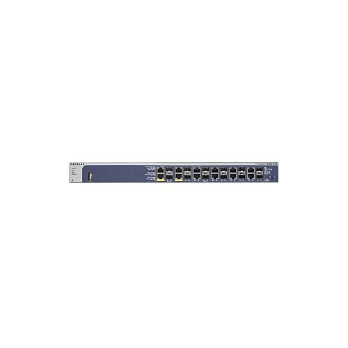 Netgear ProSafe GSM7212F 12 Ports Manageable Ethernet Switch 12 x Gigabit Ethernet Network 12 Expansion Slot Twisted Pair 2 Layer Supported 1U High Desktop Rack-mountable