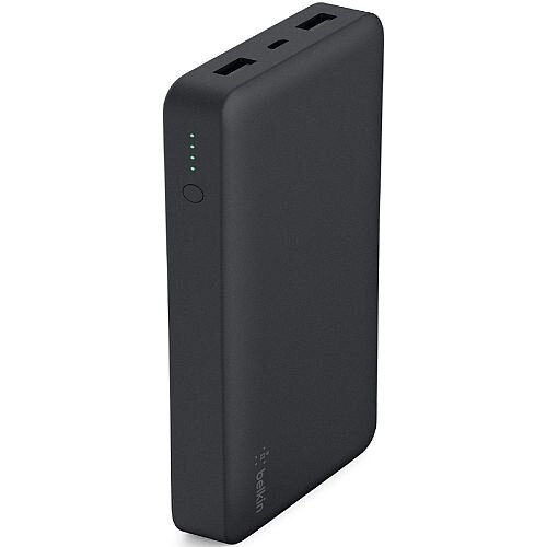 Belkin Power Bank - Black - Ultra Fast Charging 3.4A - 15000 mAh - 5V DC Output - 5V DC Input - Black F7U021BTBLK