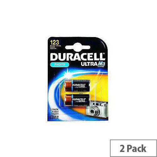 Duracell ULTRA DL123-X2 Camera Battery 1550 mAh Lithium Manganese Dioxide (Li-MnO2) 3 V DC 2 Pack