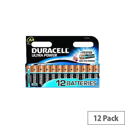 Duracell Ultra Power Multipurpose Battery AA Alkaline 1.5 V DC 12 Pack