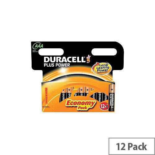 Duracell Plus Power Multipurpose Battery Alkaline 1.5 V DC 12 Pack