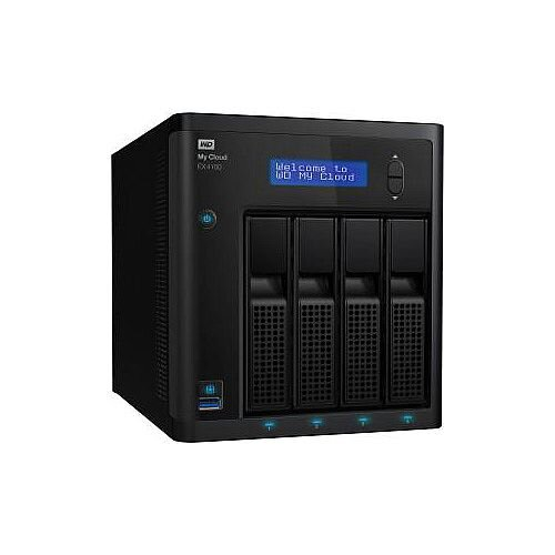 WD My Cloud EX4100 4 x Total Bays NAS Storage System Marvell ARMADA 300 388 Dual-core 2 Core 1.60 GHz 2 x HDD Installed 8 TB Installed HDD Capacity