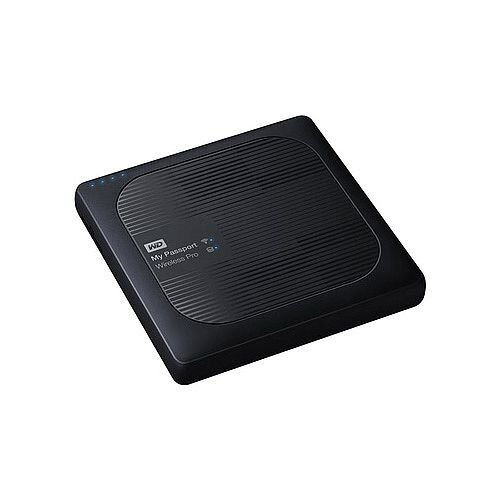 WD My Passport Wireless Pro 1 TB Network drive - HDD 1 TB x 1 RAM 512 MB USB 3.0 / 802.11ac - Strong Wi-Fi performance - Save time - Long battery life - WDBVPL0010BBK
