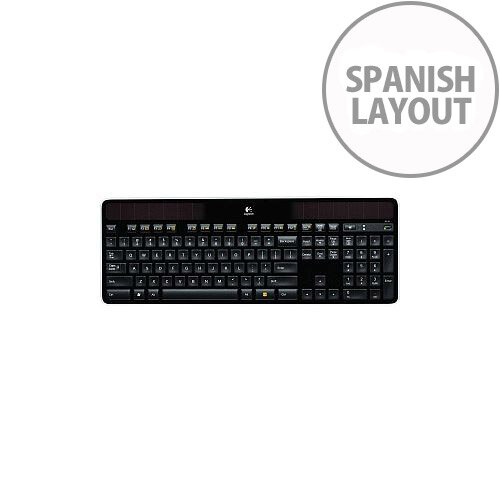 fd17b822371 Logitech K750 Keyboard Wireless Connectivity RF USB Interface Spanish -  HuntOffice.ie
