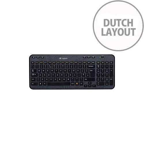 6b287a7624b Logitech K360 Keyboard Wireless Connectivity RF Black Retail USB Interface  International Compatible with Computer PC Play