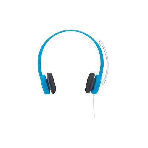 49b8b17d8fa Logitech H150 Wired Stereo Headset Over-the-head Semi-open Blue Mini ...