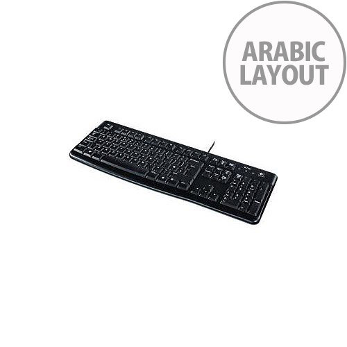 0c0a9b5f67d Logitech K120 Keyboard Cable Connectivity Black USB Interface Arabic  Compatible with Computer Notebook Netbook - HuntOffice.ie
