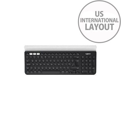 Logitech K780 Keyboard Wireless Connectivity Bluetooth White Black USB  Interface Compatible with Desktop Computer Tablet Smartphone Mac Android PC  iOS