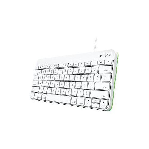 Logitech Membrane/Scissor Keyboard Cable Connectivity Lightning Interface  Compatible with Tablet iOS QWERTY Keys Layout