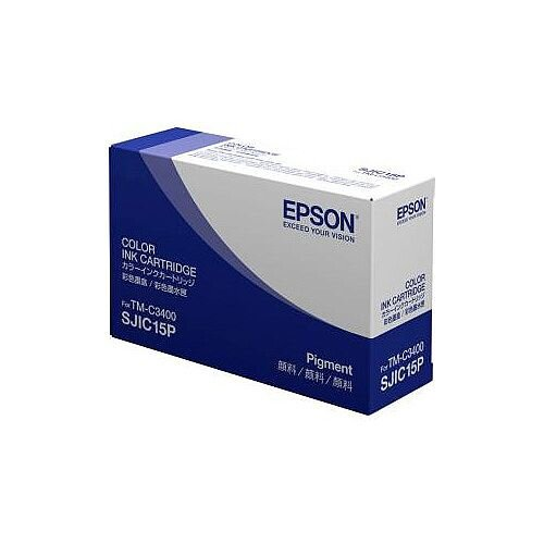 Epson SJIC15P 3-Colour Original Ink Cartridge Cyan, Magenta, Yellow C33S020464