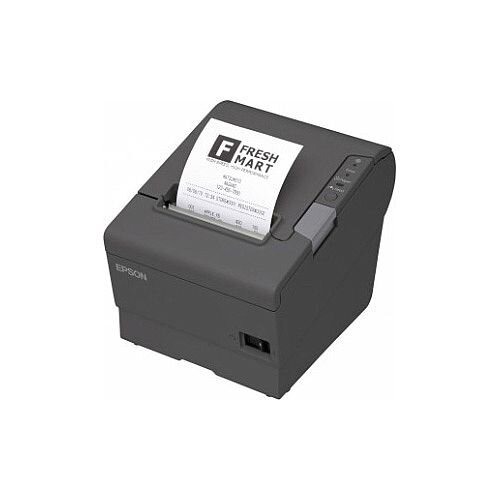 Epson TM-T88V Direct Thermal Printer Monochrome Desktop Receipt Print 72mm 2.83in Print Width 300 mm/s Mono 180 x 180 dpi 12 KB Serial 80mm Label Width