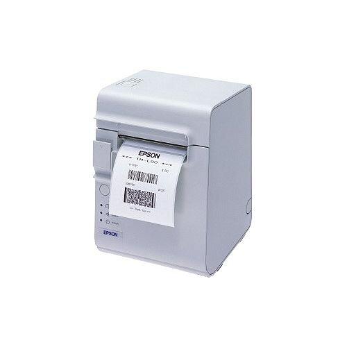 Epson TM-L90 Direct Thermal Printer Monochrome Desktop Label Print 72mm 2.83in Print Width 150 mm/s Mono 203 x 203 dpi 14 KB USB Serial 79.50mm Label Width