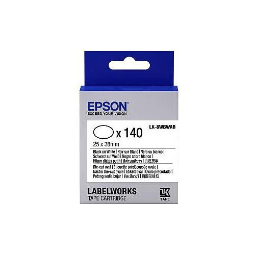 Epson Label Tape 6mm Width x 9m Length White C53S658902