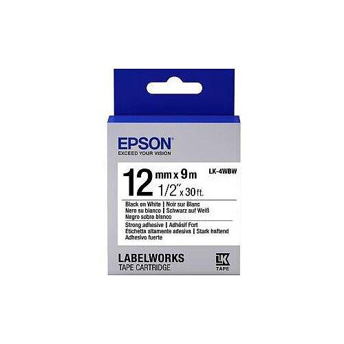 Epson Label Tape 12mm Width x 9m Length White C53S654016