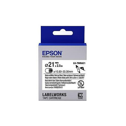 Epson Label Tape 6mm Width x 9m Length White