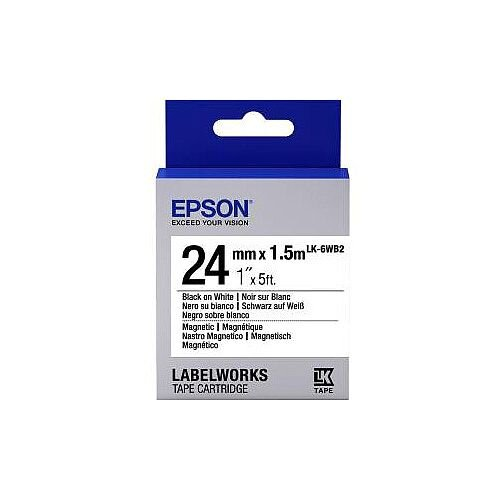 Epson Label Tape 6mm Width x 9m Length White C53S656003