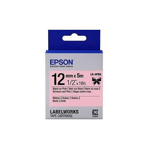 Epson Gift Label 12mm Width x 5mm Length Rectangle Pink