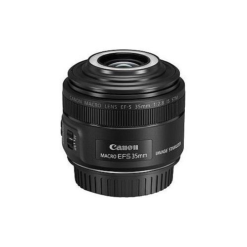 Canon 35 mm f/2.8 Macro Lens for Canon EF-S Designed for Camera 49 mm Attachment 1x MagnificationHybrid IS 55.8 mmLength 69.2 mmDiameter