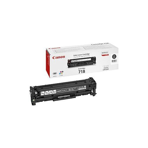 Canon 718 Original Toner Cartridge Black Laser 3400 Pages