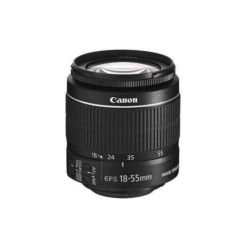 Canon EF-S 5121B005 18 mm to 55 mm f/3.5 5.6 Zoom Lens for Canon EF/EF-S 58 mm Attachment 0.34x Magnification 3.1x Optical Zoom Optical IS 68.5 mmDiameter