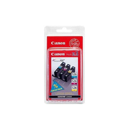 Canon CLI526-CMY Original Ink Cartridge Cyan Magenta Yellow Inkjet 3 / Pack