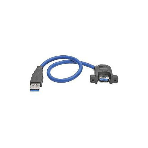 Tripp Lite U324-001-APM USB Data Transfer Cable for Chromebook Keyboard Hard Drive Flash Drive 30.48cm 1 x Type A Male USB 1 x Type A Female USB