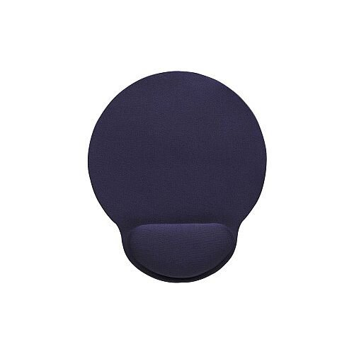 Manhattan 434386 Mouse Pad 241.3 mm x 203.2 mm x 3.8 mm Dimension Blue Foam Gel