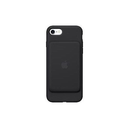 Apple iPhone 7 Battery Case Black Silky Silicone MicroFiber