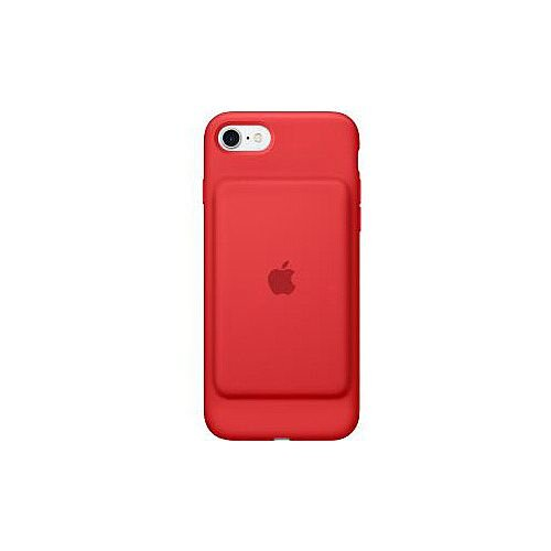 Apple Smart Battery Case for iPhone 7 Red Silky Silicone MicroFiber