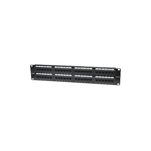 "Intellinet 560283 48 Port s Network Patch Panel 48 x RJ-45 48 x RJ-11 2U High 19"" Wide Rack-mountable"
