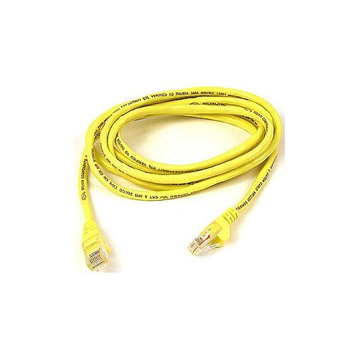 Belkin Category 5e Network Cable for Network Device 5 m 1 Pack 1 x RJ-45 Male Network 1 x RJ-45 Male Network Patch Cable Yellow