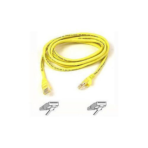 Belkin F3X126B05M Category 5e Network Cable 5 m 1 x RJ-45 Male 1 x RJ-45 Male Patch Cable Yellow