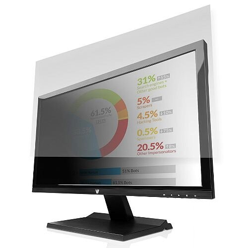 "V7 Privacy Screen Filter - For 605 mm (23.8"") LCD Widescreen Monitor, Notebook PS23.8W9A2-2E"