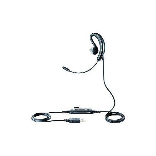 Jabra UC Voice 250 MS Wired Mono Earset Behind-the-ear Open Black USB