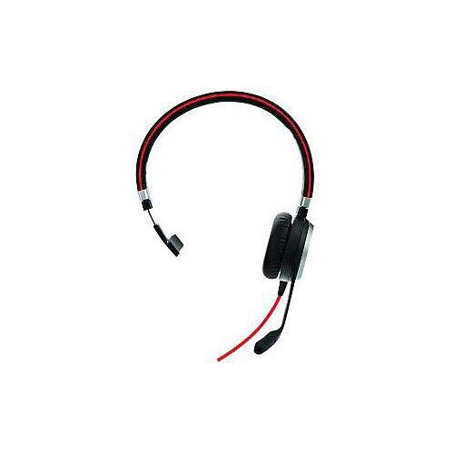 Jabra EVOLVE 40 Wired Mono Headset Over-the-head Supra-aural USB Mini-phone Yes