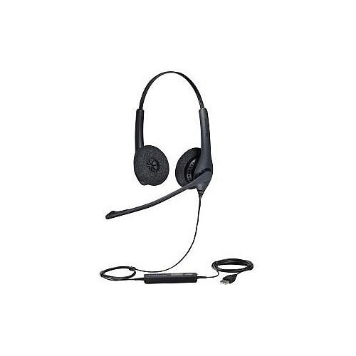 Jabra BIZ 1500 Wired Stereo Headset Over-the-head Supra-aural 32 Ohm 20 Hz 6.80 kHz 2.30 m Cable USB Yes