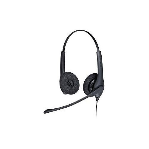 Jabra BIZ 1500 Wired Stereo Headset Over-the-head Supra-aural 150 Ohm 20 Hz 4.50 kHz 95 cm Cable Quick Disconnect Yes