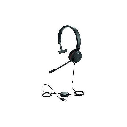 Jabra EVOLVE 30 II Wired Mono Headset Over-the-head Supra-aural Mini-phone Yes