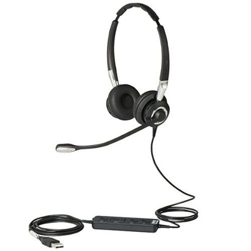 Jabra BIZ 2400 II USB Wired Stereo Headset - Over-the-Head - Voice Recognition Compatible, Noise Cancelling - USB Connection