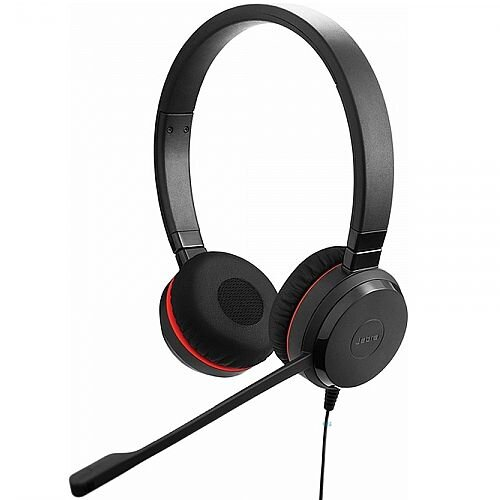 Jabra Evolve 30 II HS Stereo Headset ; 3.5mm Jack ; Binaural (Stereo) ; Noise-Cancelling ; Sensitive Microphone