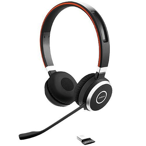 Jabra Evolve 65 UC Wireless Bluetooth Stereo Headset Over-the-head Supra-aural 30 m 150 Hz 7 kHz Yes