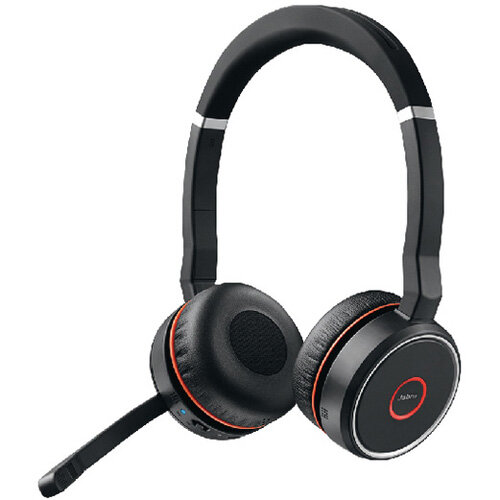 Jabra Evolve 75 Stereo MS Headset - Bluetooth , Wireless, USB, Bluetooth 4.2 - incl Jabra Link 370 Pouch In