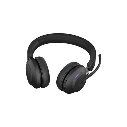 Jabra Evolve2 65 UC Wireless Over-the-head Stereo Headset - Supra-aural - Bluetooth - Noise Cancelling Microphone - Black
