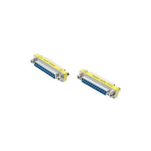 StarTech DB25 Slimline Gender Changer Female to Female Cable Adapter 1 x DB-25 Female 1 x DB-25 Female