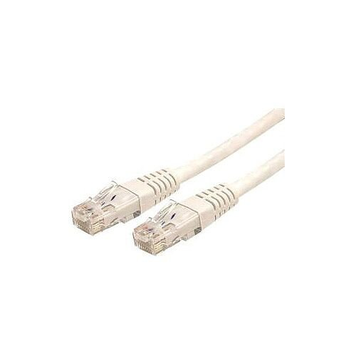 StarTech 7ft White Molded Cat6 UTP Patch Cable ETL Verified Category 6 7 ft 1 x RJ-45 Male Network 1 x RJ-45 Male Network White