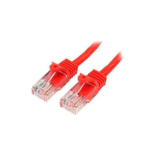 StarTech 3 m Red Cat5e Snagless RJ45 UTP Patch Cable 3m