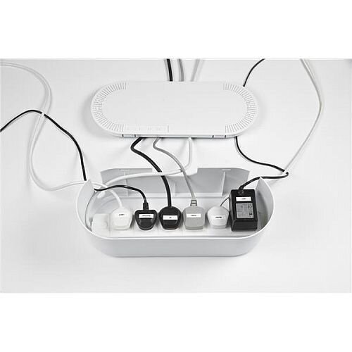 Cable Tidy Unit Large White Can Hold As Big As 6 Way Extension Leads - Reduces Trip Hazards &Ideal For Home &Office Use.
