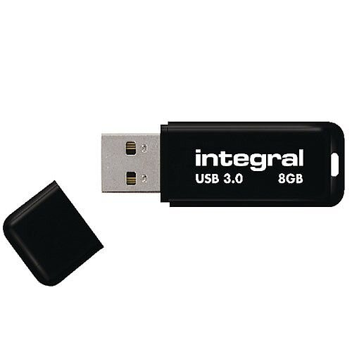 Integral USB Noir 8GB USB 3.0 Memory Stick Black